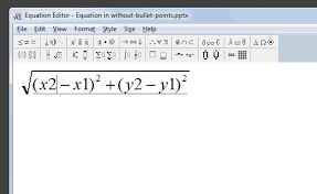how to insert equations in powerpoint 2010