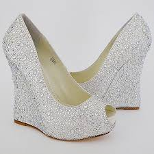 wedding shoes wedges benjamin mila wedge for bridal or evening wear 4 3
