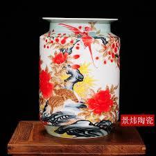guci jingdezhen pastel pottery large flower vase home decorations