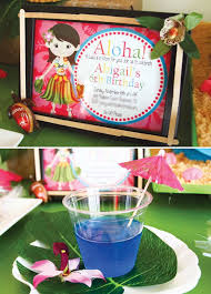 tropical oasis hawaiian luau birthday party hostess with the