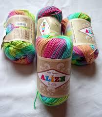 pure cotton baby yarn light weight alize bella batik design