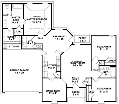 Single Story Four Bedroom House Plans One Floor 4 Bedroom House Blueprints Home Design