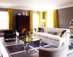 yellow and gray living room ideas white u shaped fabric comfy sofa