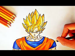 coloriage goku super saiyan de dragon ball z ssj1 peinture