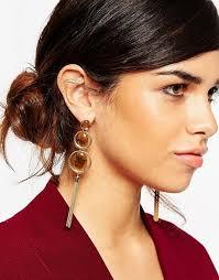 70 s earrings asos asos tigers eye 70s tassel earrings