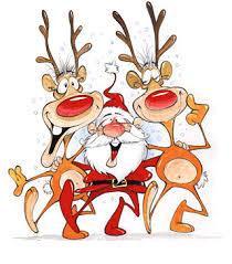 imagenes animadas de renos de navidad papa noel baila con los renos casa de navidad pinterest papa