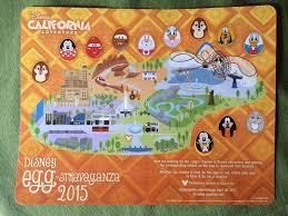 Disney California Adventure Map Disneyland And California Adventure Easter Egg Hunt Egg