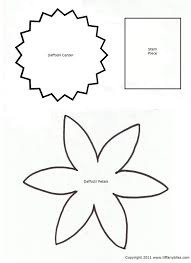 6 best images of daffodil template printable pattern daffodil