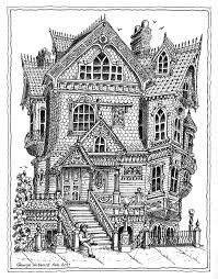 victorian house colouring coloring pages pinterest