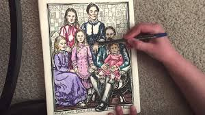 laura ingalls wilder coloring book youtube