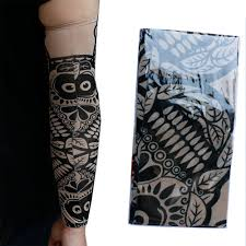 automotive tattoo sleeve 4pk tattoo elastic arm sleeves cooling athletic sport skins sun