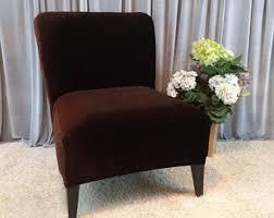 armless chair slipcovers armless chair cover etsy