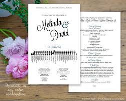 Fan Style Wedding Programs Silhouette Wedding Program Printable Pdf Fan Program Or Double