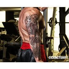 steampunk temporary tattoo sleeve full arm sleeve tattoo men