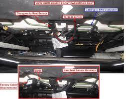 2006 bmw 330i airbag light passenger seat occupancy matt sensor bypass