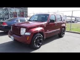 silver jeep patriot black rims 2008 jeep liberty on custom 18 inch black offroad rims tires youtube
