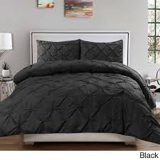 Pinched Duvet Cover Chic Veronica 3 Piece Nica Pinch Pleat Pintuck Duvet Cover Set For