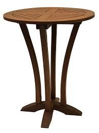 Patio Bar Table Outdoor Interiors Eucalyptus 30 Inch Diameter