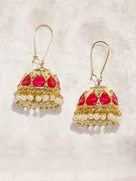 jhumkas earrings jhumkas buy jhumka earrings online in india myntra
