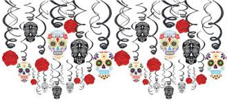 Day of the Dead Mexican Swirl Decorations Value Pack