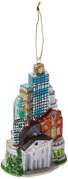 kurt adler 5 inch glass boston cityscape ornament