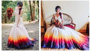 tie dye wedding dress complete out of the box wedding gowns for this season