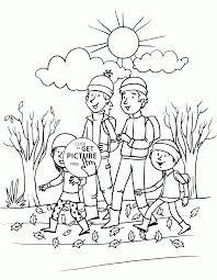 happy fall coloring pages kids seasons autumn printables