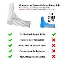 amazon com beard shaping tool with comb stainless steel beard