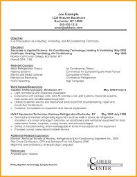 hvac technician resume exles creative free sle resume for hvac technician peaceful design hvac