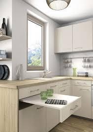 creer une cuisine dans un petit espace cuisines petits espaces table escamotable mobalpa et espaces de vie