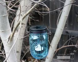 blue tea light candles star cutout tea light candle holder lid for mason jars