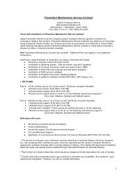 contract maintenance contract template