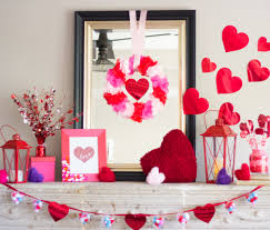Valentine Decorations Ideas by Valentine U0027s Day Mantel