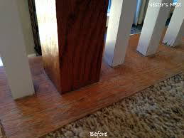 Gel Stain Banister My Refinished Staircase A Nester U0027s Nest