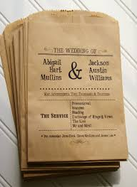program paper wedding ceremony programs set of 25 custom flat kraft paper bag