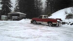 ugly 1973 chevy 3 4 ton 4x4 plowing at moose terd lodge youtube