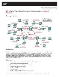 9 7 1 packet tracer skills integration challenge activity instructor