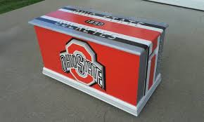 ohio state buckeyes inspired storage ohio state footlocker