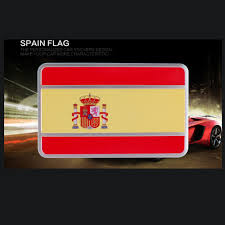 Cool National Flags 1pc Free Shipping Spain Car National Flag Sticker Rectangle Cool