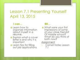 About Myself Resume Presenting Yourself Mr Wilson Open Up Blue Book To Page Ppt Download