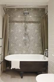 Cast Iron Bathtub Faucets London Designer Shower Curtains Bathroom Industrial With Rainfall