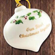 2017 belleek our first christmas ornament sterling collectables