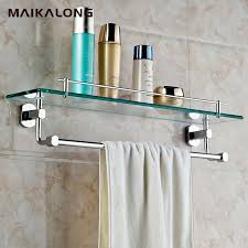 Bathroom Glass Shelves With Rail Glass Bathroom Shelf With Rail Pictures Inspiration The