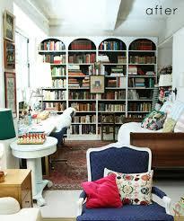 before u0026 after faux arched bookshelves u2013 design sponge