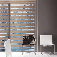 Rica Blinds Custom Made Shade Translucent Roller Zebra Blinds In Brown Curtain