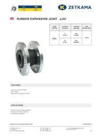 Rubber Expansion Joints Zjoi Fig 700 Zetkama Sp Z O O Pdf