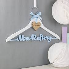 wedding dress hanger personalised theme colour wedding dress hanger by no ordinary gift