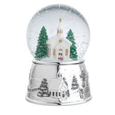 baptism snow globes church musical christmas snowglobe