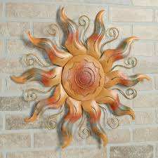 Celestial Home Decor by Stunning Decoration Sun Metal Wall Art Pretentious Idea Radiant