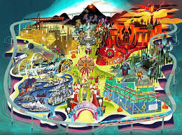 bethesda u0027s e3 invite features game themed amusement park with two